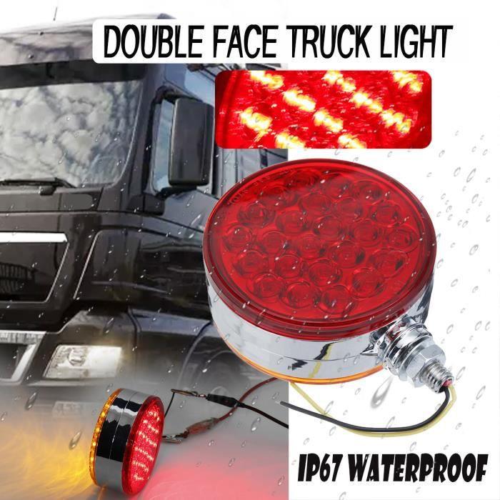 jaune 2 x 4 LED clignotants clignotants pour voiture camion