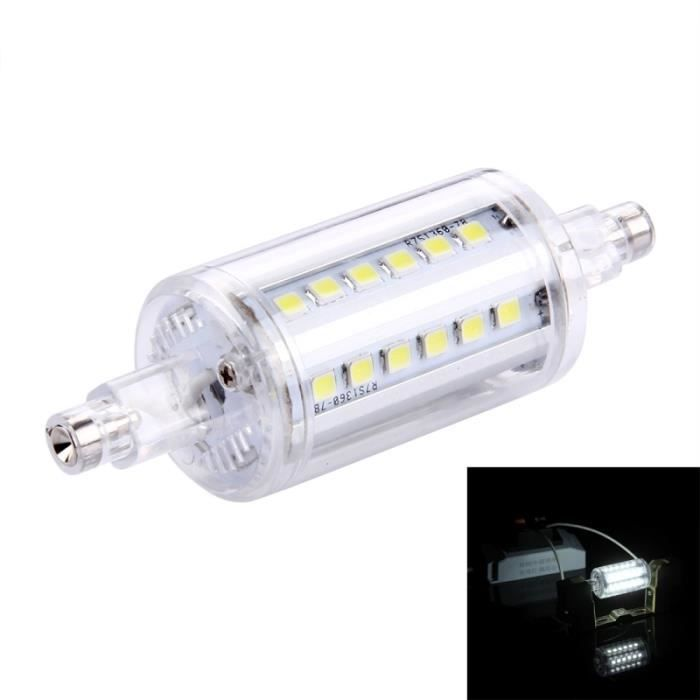 Ampoule 85 Horizontale 78mm Led 265v R7s Smd Lumière 5w 280lm 36 2835 Prise Blanche Ac Horizontal 0OvmNwy8n