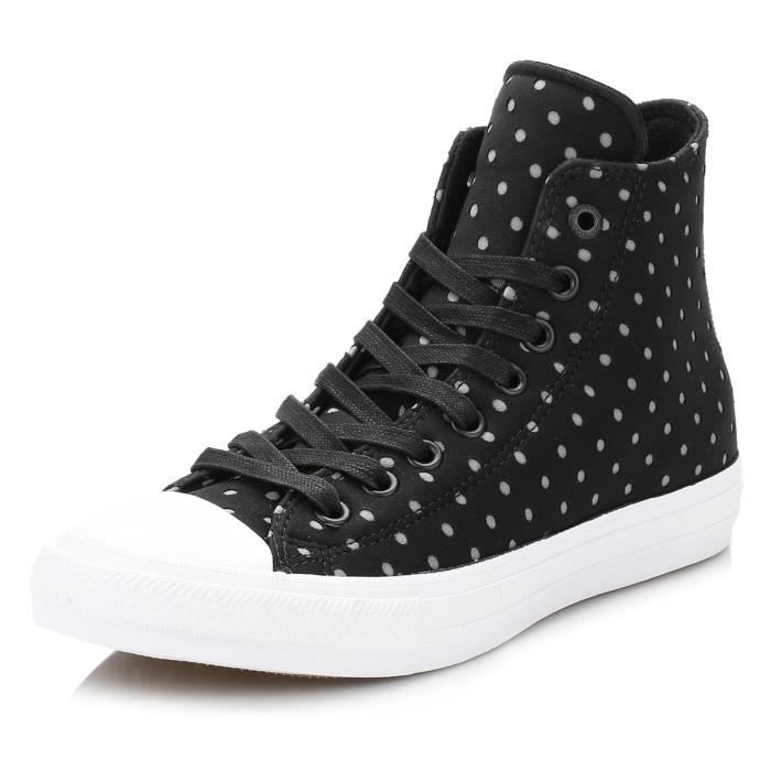 Converse All Star Chuck Taylor II femme Noir-Dolphin Shield Baskets-UK 8