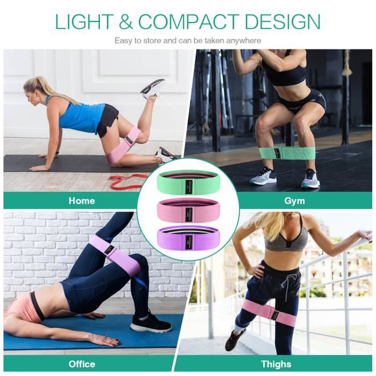XDecorationjh Sangles Yogafemmes Yoga Stretch Strap Ceinture 8-Forme Yoga Pull Up Ceinture Corde pour Poignet Taille Booty Formation Gym Accessoires Fitness Equipment-B