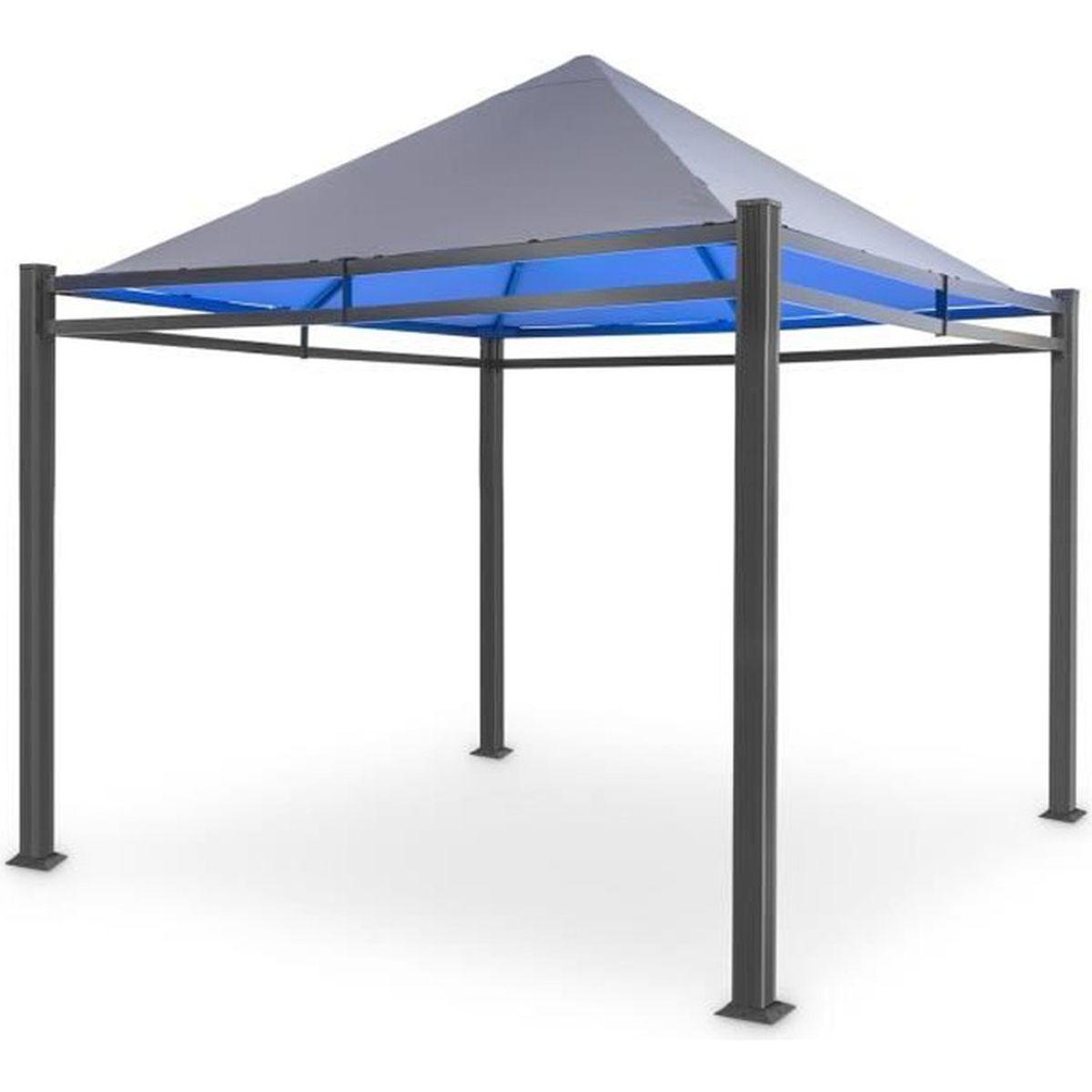 Remplacement Du Toit PVC Revêtement en Pavillon Étanche Imperméable Env 3x3m