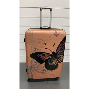 VALISE - BAGAGE Valise papillon grande rose gold