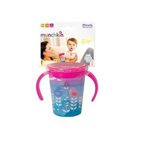 TASSE D'APPRENTISSAGE Munchkin Tasse Miracle 360° rose et bleu 177 ml av