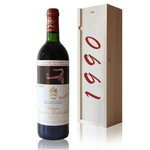 VIN ROUGE Coffret Château Mouton Rothschild 1990 Rouge 75cl