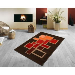 Tapis PARIS salon MARRON ORANGE BORDEAUX 160X230 CM