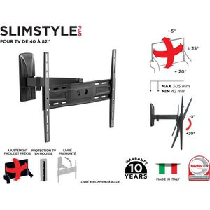 FIXATION - SUPPORT TV MELICONI 480972 Support mural TV inclinable et ori