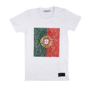 t shirt graphique portugal blanc nations