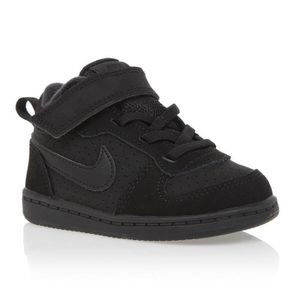 BASKET MULTISPORT NIKE Baskets Court Borough Mid - Bébé - Noir