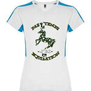 T Shirt Femme Suzuka 3d Pas Ltemps Jai Equitation Tee Shirt Humour Femme Bleu Et Blanc Le Cheval Cabre Et Fleuri Du S Au Xxl