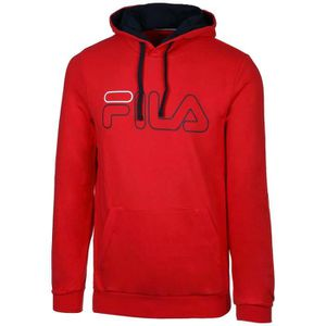 SWEATSHIRT Sweat à Capuche Fila Willliam Rouge