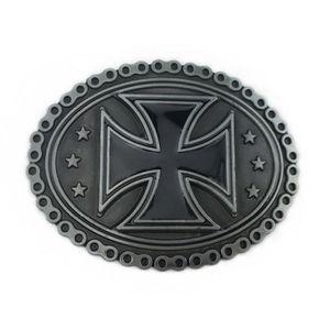 CEINTURE ET BOUCLE Boucle de ceinture croix de malte contour style ch