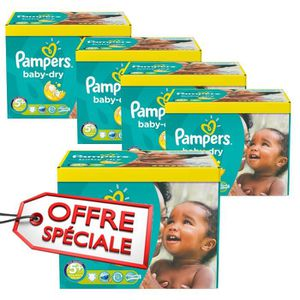 COUCHE 272 Couches Pampers Baby Dry taille 5+