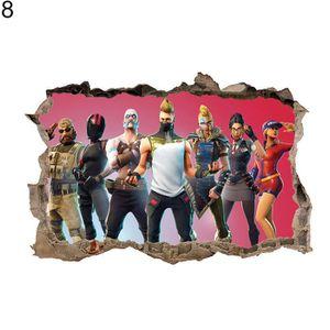 OBJET DÉCORATION MURALE Sticker décoratif mural de Fortnite Battle Royal,