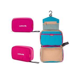 imperm/éable avec compartiments Winomo Trousse de toilette de voyage /à suspendre pochette pour maquillage