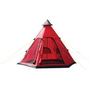 TENTE DE CAMPING Festival de Yellowstone 4 Man Tipi Tente Rouge