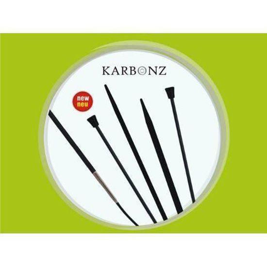 KnitPro 20 cm x 3,75 mm Karbonz Aiguilles circulaires /à Double pointe Noir et Argent