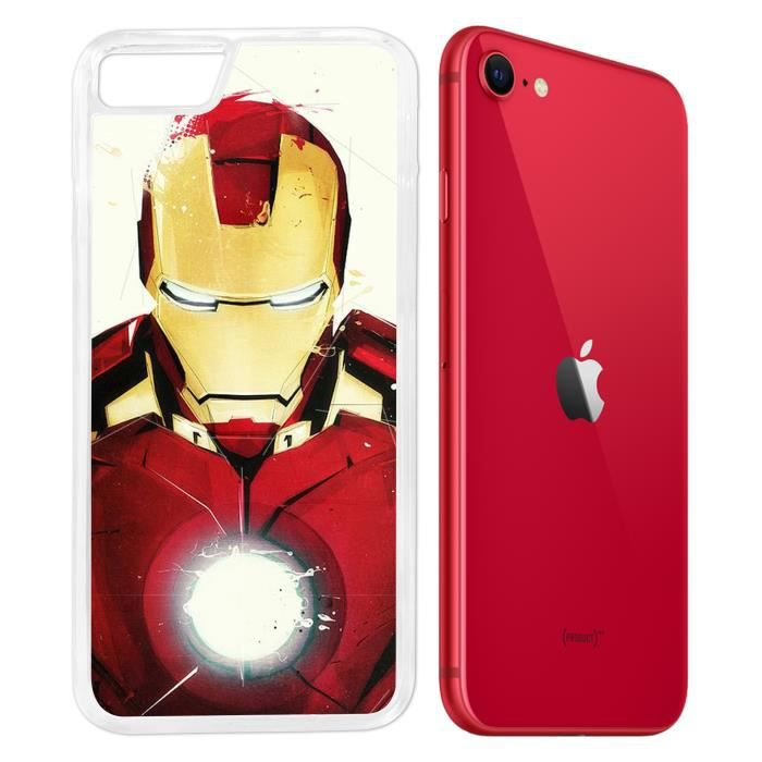 Coque iPhone SE 2020 - Iron Man Paintart. Accessoire telephone