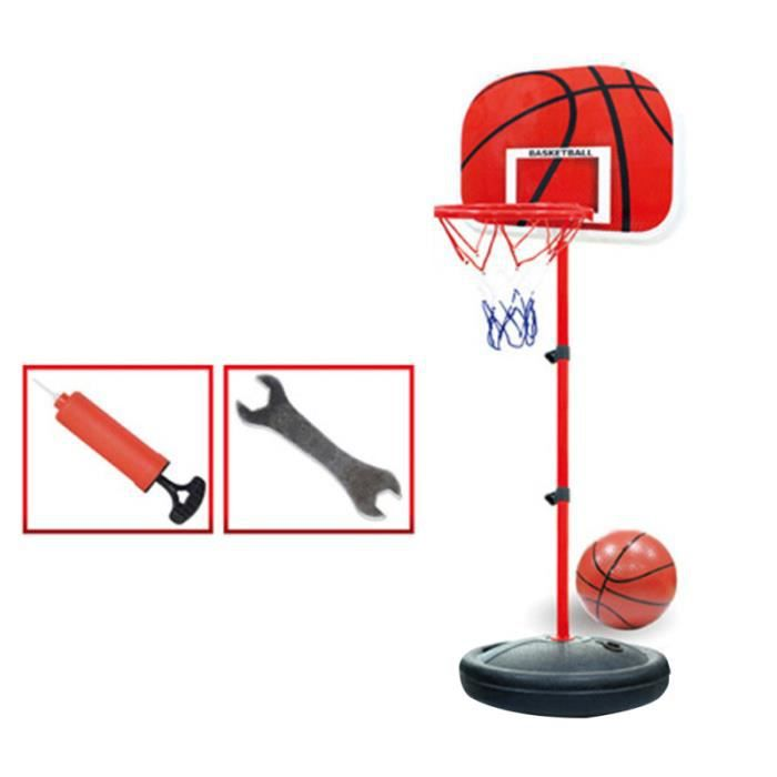 Enfants enfants 150cm Jouets de basket-ball ajustables avec rack de support de jeu d'adresse jeux de recre - jeux d'exterieur
