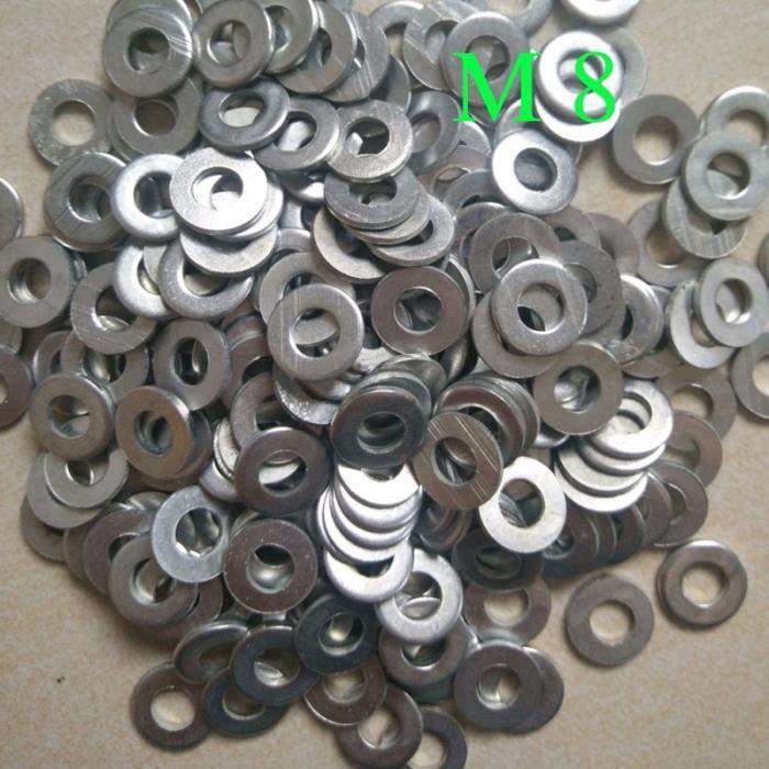 100 pièces M8 rondelles plates de matériel métrique pratique durable pour la DERAILLEUR - PIECES DETACHEES DE DERAILLEUR