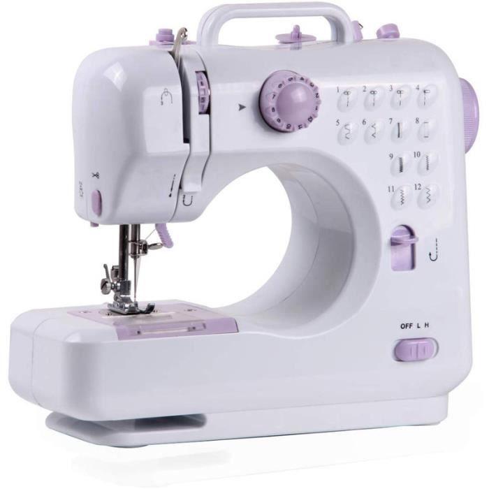 BAO® Machine à coudre - Machine a coudre portable avec tiroir pour accessoires, 12 types de points différents Manuel en PDF