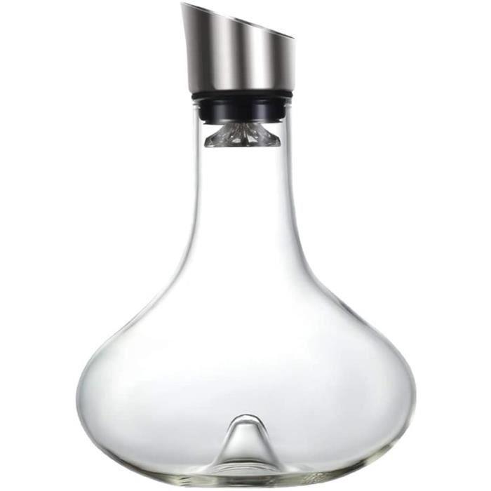 SXFYWYM Carafe À Décanter, Carafe en Cristal Soufflé À La Main Aérateur De Carafe À Vin avec Couvercle Verseur, Accessoires du V78