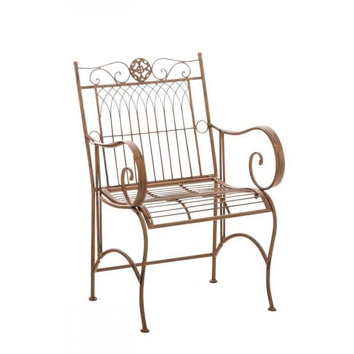 Distingue Chaise edition Le Caire couleur brun antique
