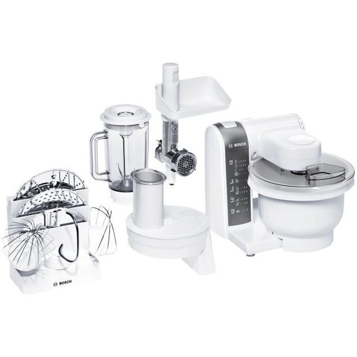Bosch MUM 4 MUM4855 Robot pâtissier 600 Watt blanc-anthracite