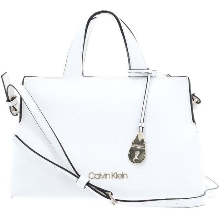 Calvin Klein Neat Tote White [89332] - SAC A MAIN