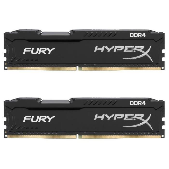 Mémoire RAM 16Go (2x8 Go) 2400M Hz DDR4 CL15 DIMM Noir
