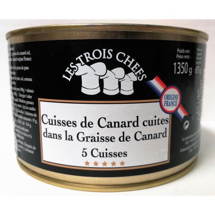 5 Cuisses de Canard Cuites dans la Graisse de Canard - 1,350 Kg