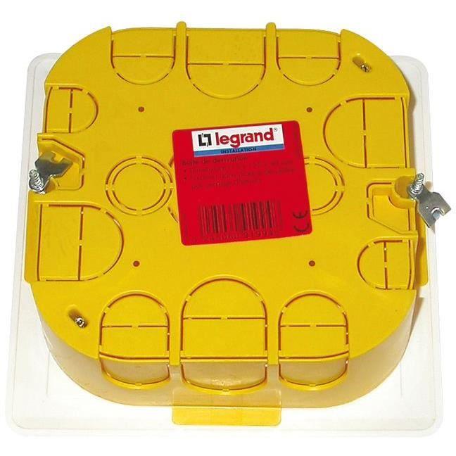 LEGRAND Boîte de dérivation pour mur creux - 115x115x40 mm