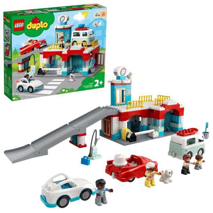 LEGO® 10948 DUPLO® Le garage et la station de lavage jouet enfant 2+ ans avec voitures à pousser
