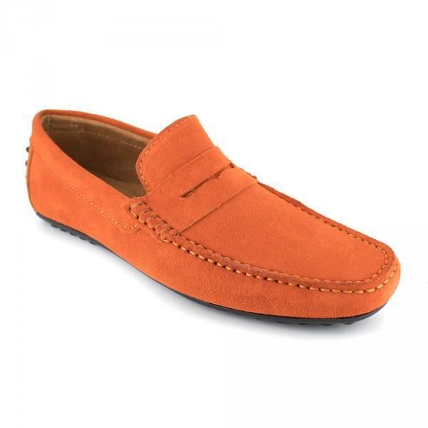 Mocassin J.Bradford Cuir Orange JB-ROBE - Couleur - Orange