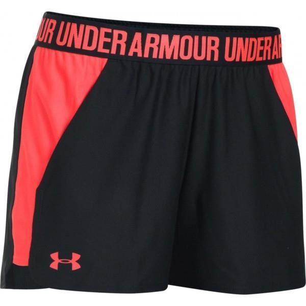 Short Under Armour play up 2.0 noir rouge pour femme
