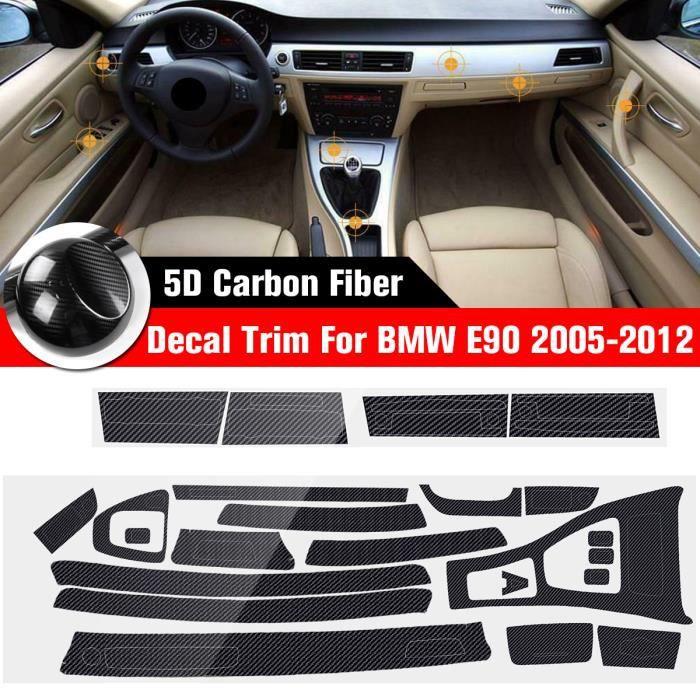 NEUFU 5D Autocollant Intérieur De Voiture En Fibre Carbone Pour BMW Série 3 E90 2005-2012