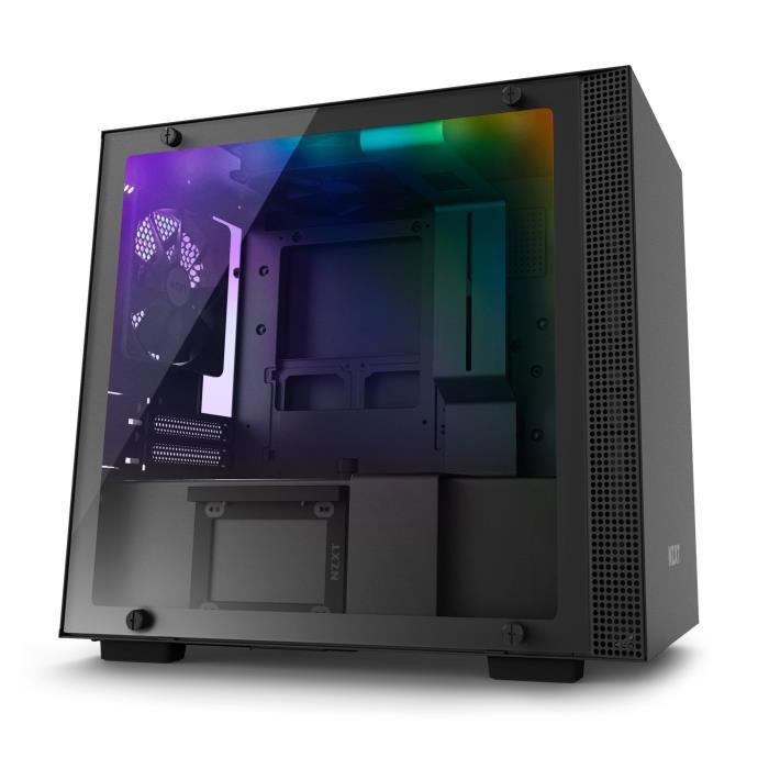 NZXT Boîtier PC Smart H200i - Mini-ITX - Smart Device - Panneau en verre trempé - Noir