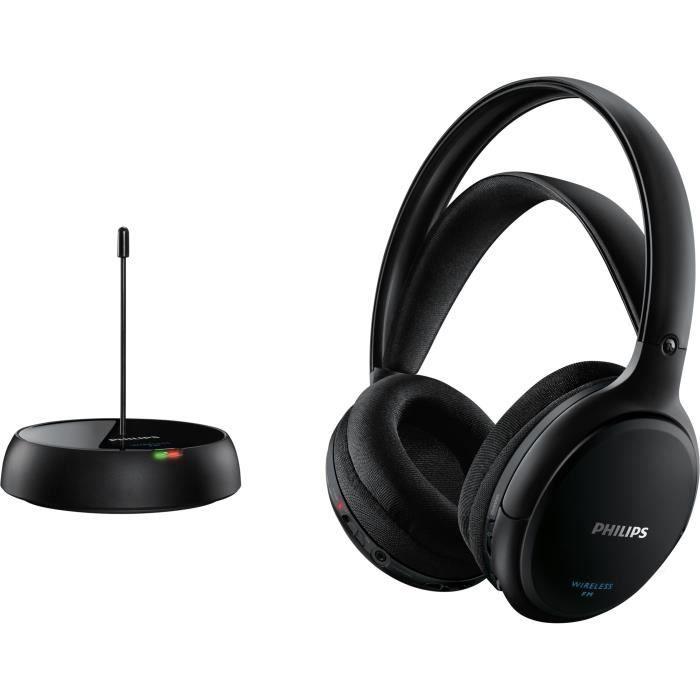 Philips SHC5200 Casque Hi-Fi sans fil - HP 32 mm/concep. Arrière fermée - Circum-aural