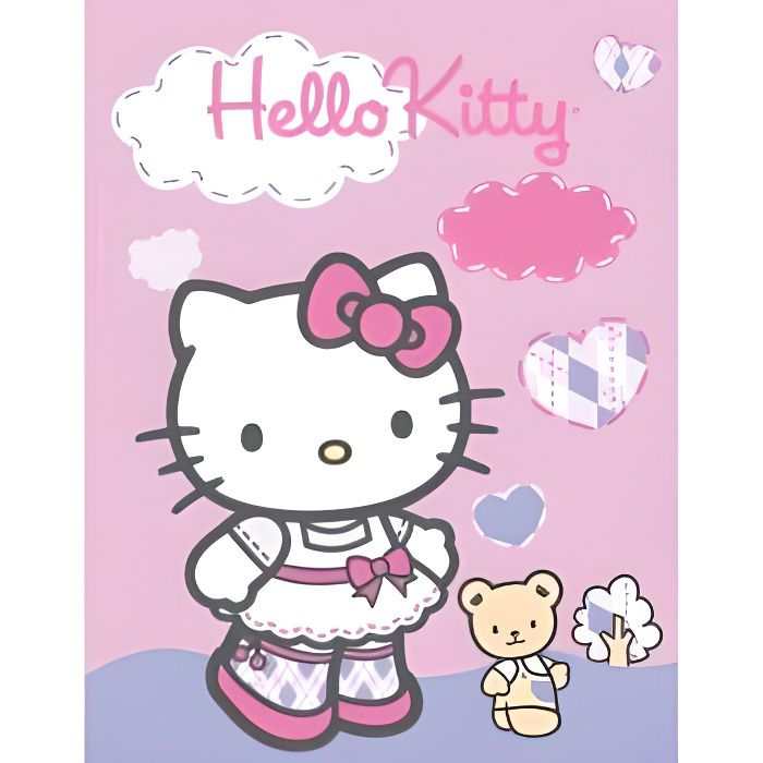 HELLO KITTY - Plaid ou couverture d'appoint