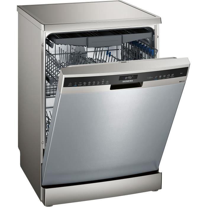 Lave-vaisselle pose libre SIEMENS SN25EI56CE - 14 couverts - Induction - L60cm - 44dB - Inox