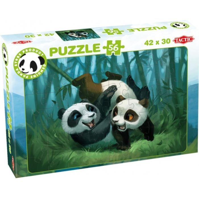 Tactic puzzle Panda Stars Playtime 56 pièces