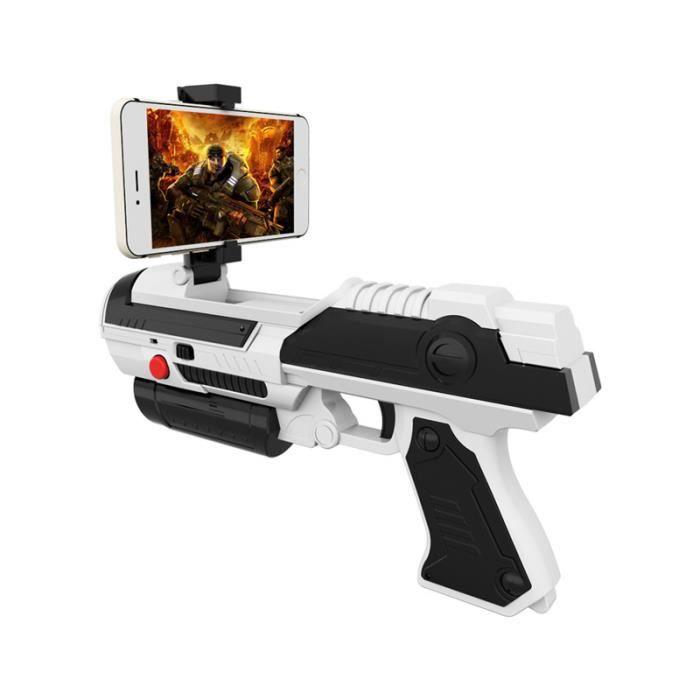 AR Réalité Augmentée Virtuelle Pistolet Bluetooth Jouet Jeux de Tir Cadeau pour IOS & Android Enfant BLANC
