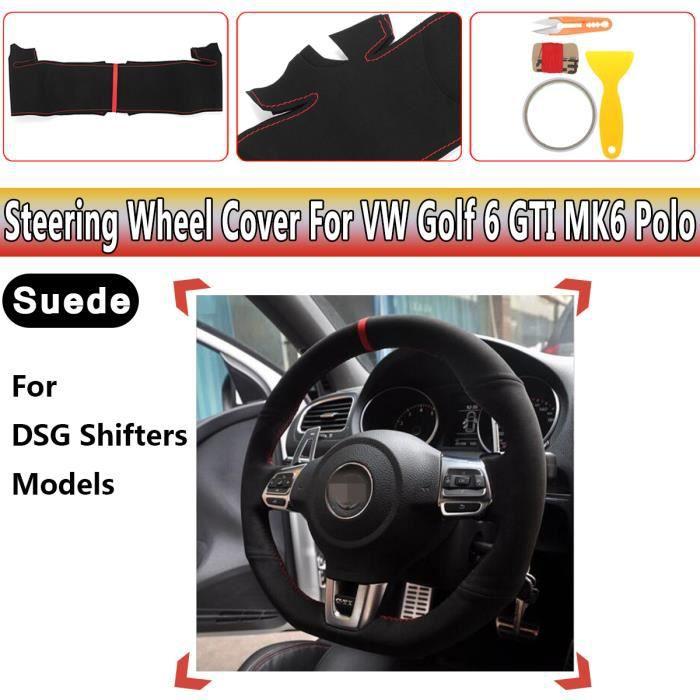 Couvre Volant Housse En Daim Confort Pour Golf VW Golf 6 GTI MK6
