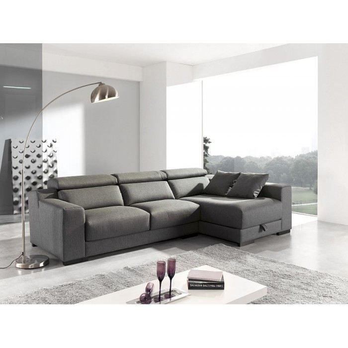 canap d 39 angle design disar mati re polyester couleur anthracite achat vente canap sofa. Black Bedroom Furniture Sets. Home Design Ideas