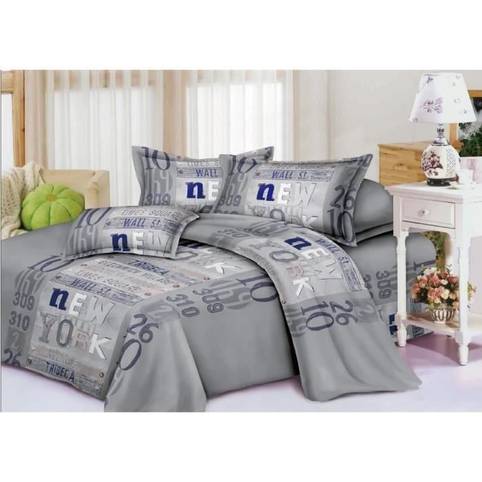 housse de couette 2 places 100 microfibre achat vente housse de couette cdiscount. Black Bedroom Furniture Sets. Home Design Ideas