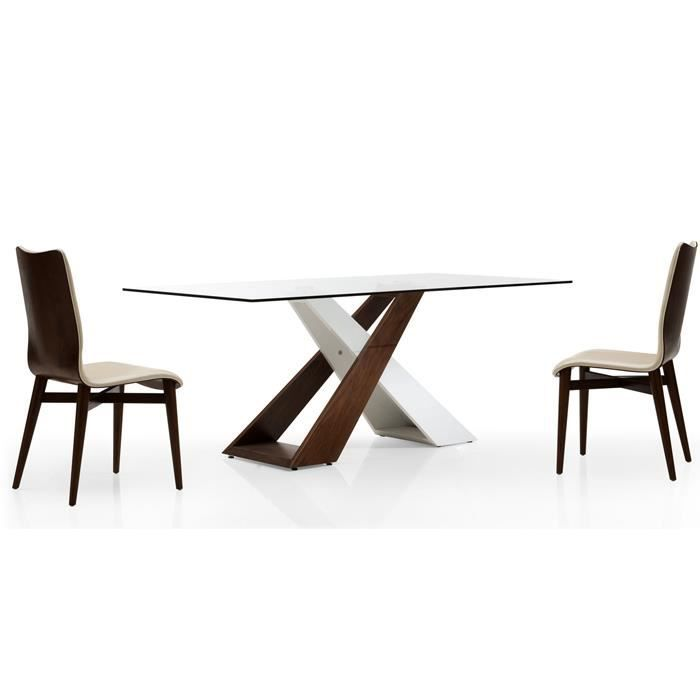 Table a manger en verre design achat vente table a for Table a manger design