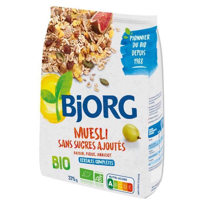CÉRÉALES PETIT DEJ  Bjorg Muesli sans sucre ajouté 375g