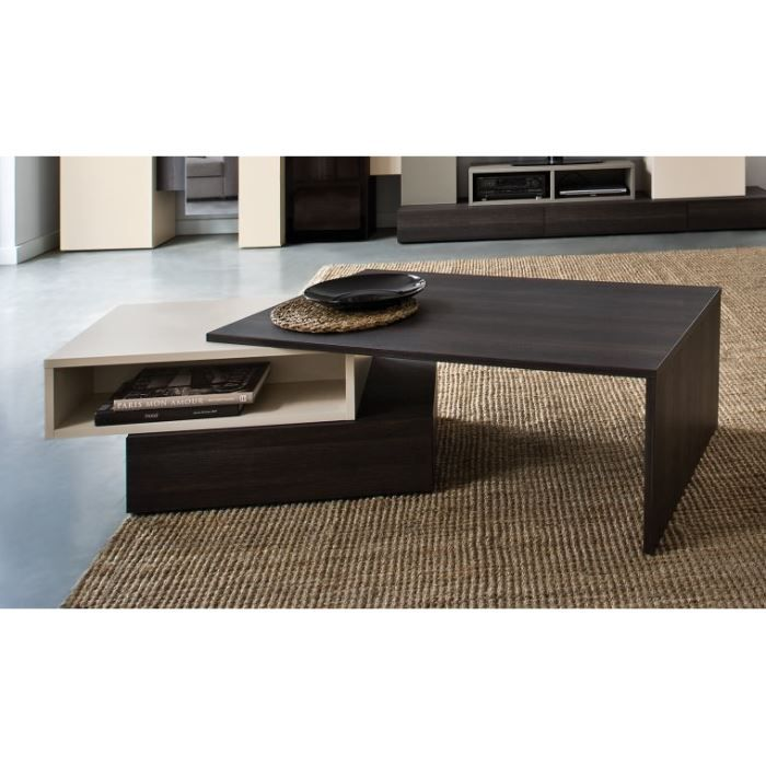 Table basse de salon design weng hifi achat vente for Table de salon escamotable
