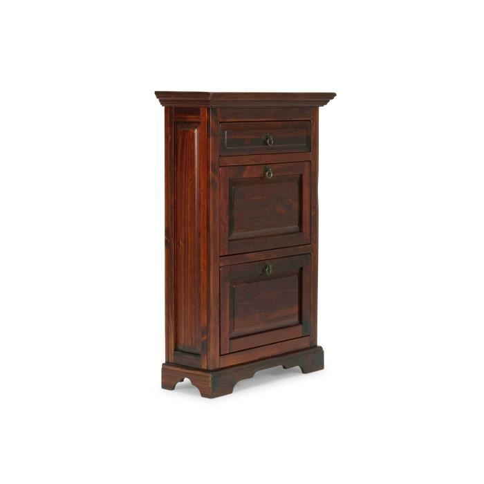 armoire chaussures catana en pin brun achat vente. Black Bedroom Furniture Sets. Home Design Ideas