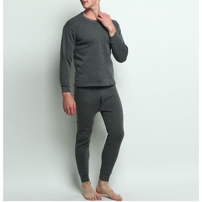 Blanc Homme Bleu Thermal T-shirt à manches longues gilet hiver sous-vêtements Gilet XL XXL