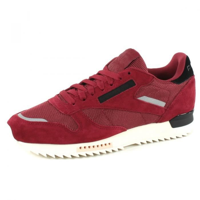 f4271275fa292 Baskets REEBOK Classic Leather Ripple SN MEN Rouge Bordeaux - Achat ...